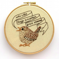 PDF: Wren, British Bird Embroidery Pattern (Digital File)