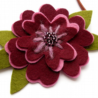 PDF: Romantic Flowers, Felt Flower Sewing Pattern & Embroidery (Digital File)