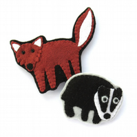PDF: Felt Fox & Badger Brooches Sewing Tutorial (Digital Files)