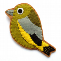 PDF: Felt Greenfinch, Bird Sewing Tutorial & Embroidery Pattern (Digital File)