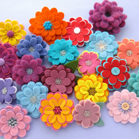 PDF: Flexible Flowers, Felt Flower Sewing Pattern (Digital File)