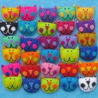 Kooky Katz Felt Cat Brooch