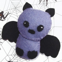 Bertie the Bat Felt Brooch