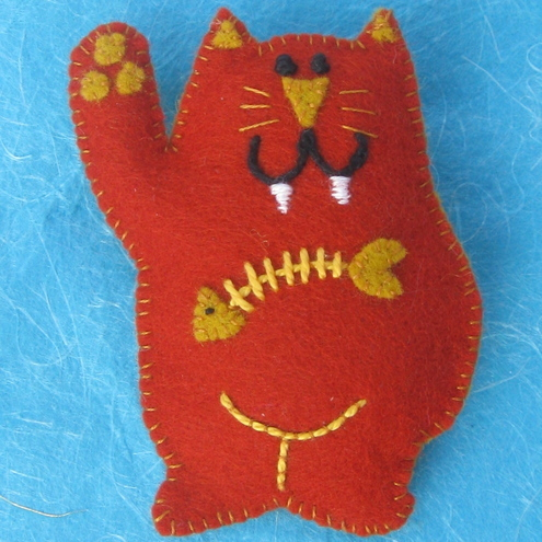 Mr Katz Felt Pin Brooch
