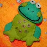 Aloysius the Frog Brooch