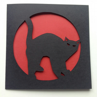Cat Paper Cut Card