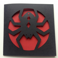 Spider Paper Cut Card