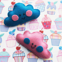 Mr Cumulus in Colour - Cloud Brooch
