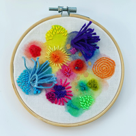 From the Sea - embroidered hoop