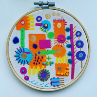 From the City - embroidered hoop