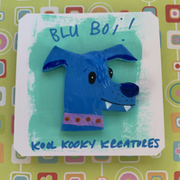 Blu Boi Clay Pin