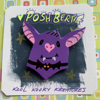 Posh Bertie Bat Clay Pin