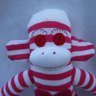 Sock monkey Cherry CE certified