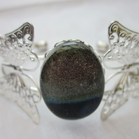 Handmade fused glass butterfly bangle - Trancendance