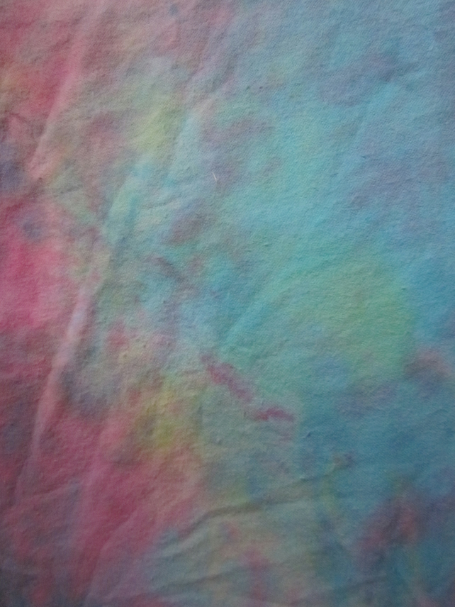 Hand dyed 100% cotton flannelette - Girly Rainbow - 100cm wide, sold per metre