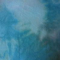 Hand dyed 100% cotton flannelette - Mermaid - single piece 150cm wide 140cm long