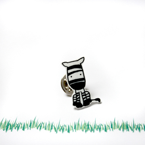 Cute Zebra Pin Badge