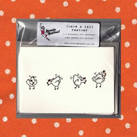 """Shake a Tail Feather"" stationery pack"