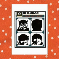 The Beat-owls Greeting Card - beatles, owls, humour, birthday