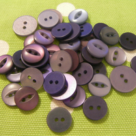 Assorted Little Purple Buttons