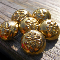 Vintage Brass Buttons