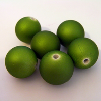 Large Round Green Beads