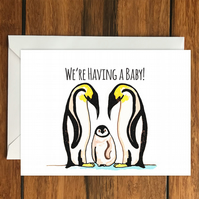 We're Having a Baby! greeting card A6, New Baby