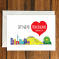 Let's Go to New Zealand For Mother's Day holiday greeting card vacation gift