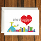 Let's Go to Rio de Janeiro For Father's Day holiday greeting card vacation gift