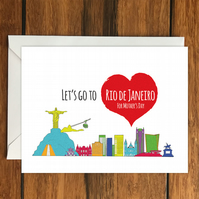 Let's Go to Rio de Janeiro For Mother's Day holiday greeting card vacation gift