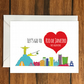 Let's Go to Rio de Janeiro This Valentine holiday greeting card vacation