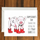 Happy Father's Day Piggy greeting card A6