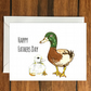 Happy Father's Day Ducks greeting card A6