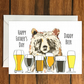 Happy Father's Day Daddy Beer greeting card A6