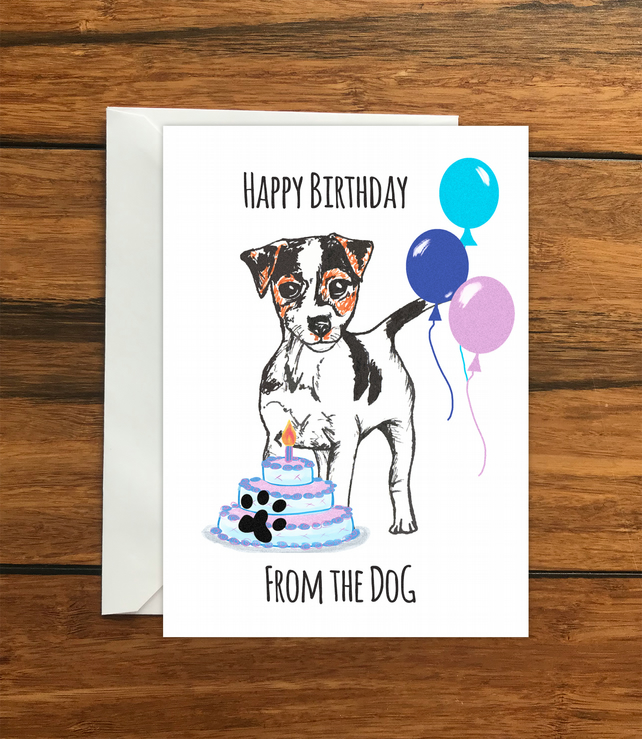 Happy Birthday From The Dog Jack Russell Terr Folksy