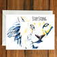 Stay Strong Lion motivational greeting card A6
