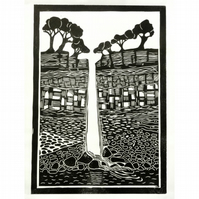 Original lino print Hardraw Force