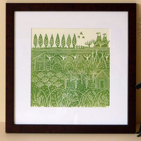 RESERVED - 'Down the allotments II' FRAMED