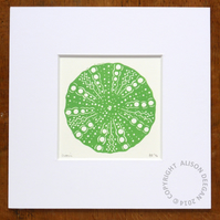 Original lino cut print URCHIN TOP