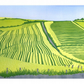 Cutting ley on the Rhins LINO PRINT SCOTTISH LANDSCAPE