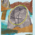Romney Sound Mirrors - CONCRETE MILITARY LANDSCAPE COLLAGE MONOPRINT