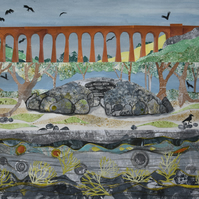 Clava Cairns and Culloden Viaduct - COLLAGE