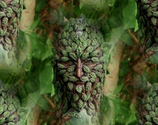 The Green man - Nature spirit greeting card