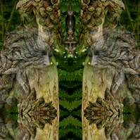 Deities of Nature - The Green Man greeting card