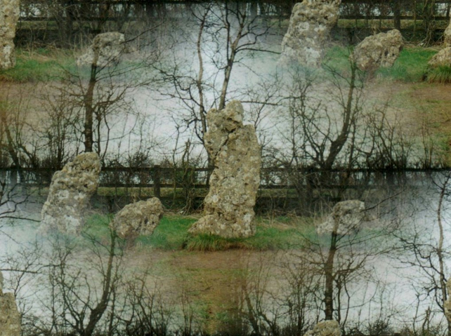 Spirits in the stones - The Rollright stone circle greeting card