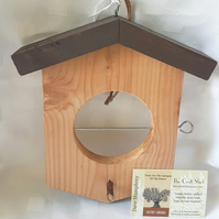 BIRD FEEDER USE FRUIT FAT BALLS makes an ideal gift for our feathery friends