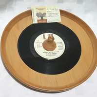 PARTY RECORD WOODEN YEW NIBBLES LIPPED PLATE...You'll Never See Another One!