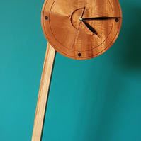Free UK Postage CONTEMPORARY FREE-STANDING LARGE WOODEN CLOCK...Fab-U-LoUs