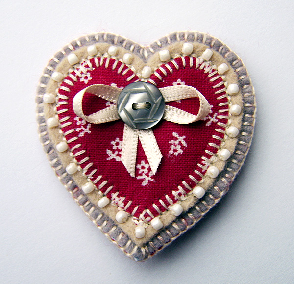 Reserved for jeech3 ...SALE! Heart Brooch