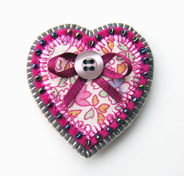 Reserved for jeech3... SALE! Heart Brooch